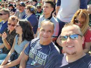 David attended University of Notre Dame Fightin Irish vs. New Mexico - NCAA Football on Sep 14th 2019 via VetTix