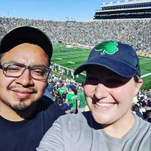 Stephen attended University of Notre Dame Fightin Irish vs. New Mexico - NCAA Football on Sep 14th 2019 via VetTix