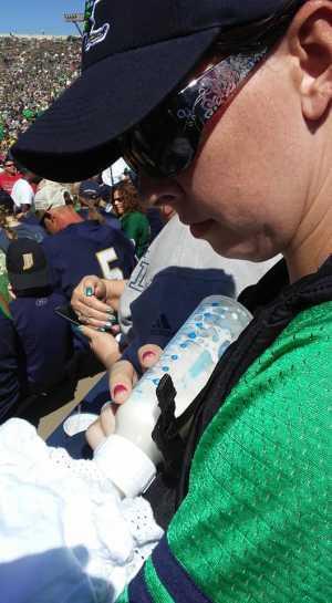 Elizabeth attended University of Notre Dame Fightin Irish vs. New Mexico - NCAA Football on Sep 14th 2019 via VetTix
