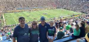 Joshua attended University of Notre Dame Fightin Irish vs. New Mexico - NCAA Football on Sep 14th 2019 via VetTix