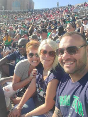 Felix attended University of Notre Dame Fightin Irish vs. New Mexico - NCAA Football on Sep 14th 2019 via VetTix