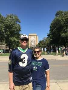 Ty attended University of Notre Dame Fightin Irish vs. New Mexico - NCAA Football on Sep 14th 2019 via VetTix