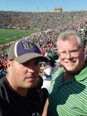 Kenneth attended University of Notre Dame Fightin Irish vs. New Mexico - NCAA Football on Sep 14th 2019 via VetTix
