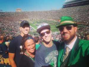 Derrick attended University of Notre Dame Fightin Irish vs. New Mexico - NCAA Football on Sep 14th 2019 via VetTix