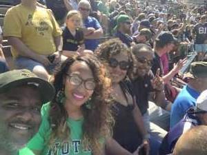 Sasha attended University of Notre Dame Fightin Irish vs. New Mexico - NCAA Football on Sep 14th 2019 via VetTix
