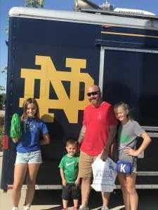 Corey attended University of Notre Dame Fightin Irish vs. New Mexico - NCAA Football on Sep 14th 2019 via VetTix