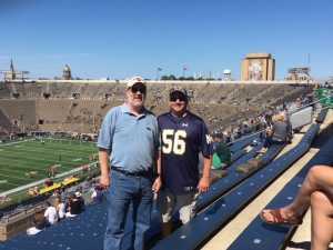 Ronald attended University of Notre Dame Fightin Irish vs. New Mexico - NCAA Football on Sep 14th 2019 via VetTix