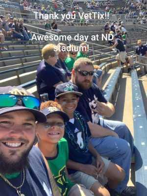 Aaron attended University of Notre Dame Fightin Irish vs. New Mexico - NCAA Football on Sep 14th 2019 via VetTix