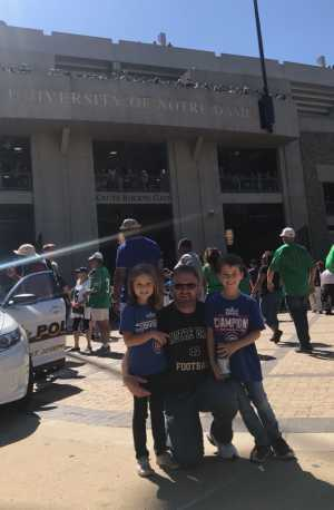 Ken attended University of Notre Dame Fightin Irish vs. New Mexico - NCAA Football on Sep 14th 2019 via VetTix