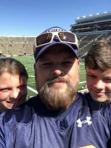 Drew attended University of Notre Dame Fightin Irish vs. New Mexico - NCAA Football on Sep 14th 2019 via VetTix