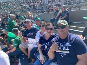 Dave attended University of Notre Dame Fightin Irish vs. New Mexico - NCAA Football on Sep 14th 2019 via VetTix