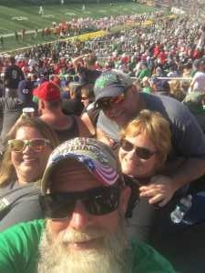 Douglas attended University of Notre Dame Fightin Irish vs. New Mexico - NCAA Football on Sep 14th 2019 via VetTix