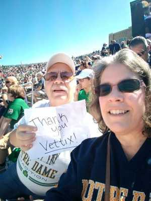 Bill attended University of Notre Dame Fightin Irish vs. New Mexico - NCAA Football on Sep 14th 2019 via VetTix