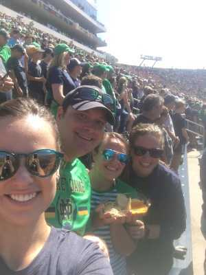 Gabriel attended University of Notre Dame Fightin Irish vs. New Mexico - NCAA Football on Sep 14th 2019 via VetTix