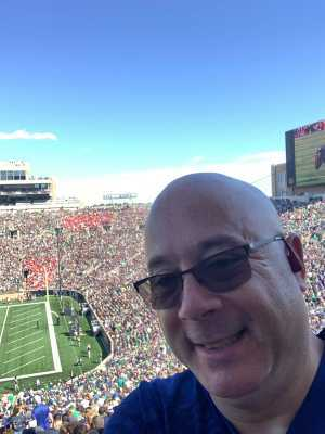 Robert attended University of Notre Dame Fightin Irish vs. New Mexico - NCAA Football on Sep 14th 2019 via VetTix