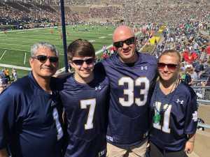 Gerald attended University of Notre Dame Fightin Irish vs. New Mexico - NCAA Football on Sep 14th 2019 via VetTix