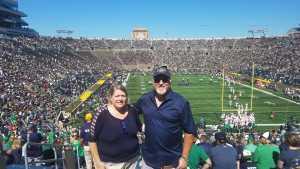 Thomas attended University of Notre Dame Fightin Irish vs. New Mexico - NCAA Football on Sep 14th 2019 via VetTix