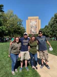 Michael attended University of Notre Dame Fightin Irish vs. New Mexico - NCAA Football on Sep 14th 2019 via VetTix