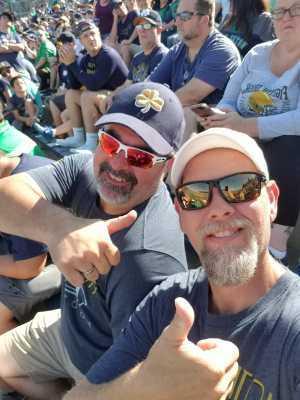 Jamie attended University of Notre Dame Fightin Irish vs. New Mexico - NCAA Football on Sep 14th 2019 via VetTix