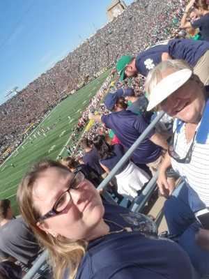 Cecilia attended University of Notre Dame Fightin Irish vs. New Mexico - NCAA Football on Sep 14th 2019 via VetTix