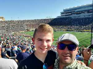 Scott attended University of Notre Dame Fightin Irish vs. New Mexico - NCAA Football on Sep 14th 2019 via VetTix