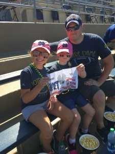 Adam attended University of Notre Dame Fightin Irish vs. New Mexico - NCAA Football on Sep 14th 2019 via VetTix