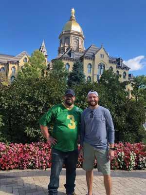 Bryan attended University of Notre Dame Fightin Irish vs. New Mexico - NCAA Football on Sep 14th 2019 via VetTix