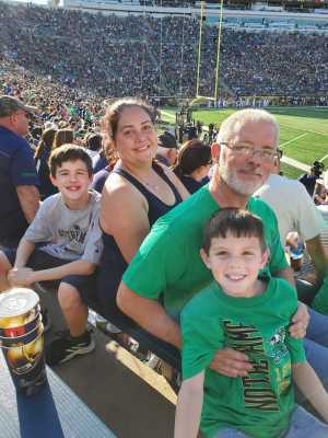 Marc attended University of Notre Dame Fightin Irish vs. New Mexico - NCAA Football on Sep 14th 2019 via VetTix