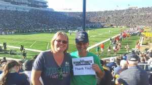 Dan attended University of Notre Dame Fightin Irish vs. New Mexico - NCAA Football on Sep 14th 2019 via VetTix