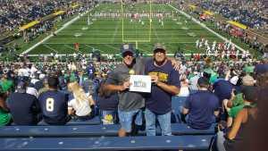 lewis attended University of Notre Dame Fightin Irish vs. New Mexico - NCAA Football on Sep 14th 2019 via VetTix