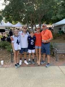 Eric attended Auburn Tigers vs. Tulane Green Wave- NCAA Football on Sep 7th 2019 via VetTix