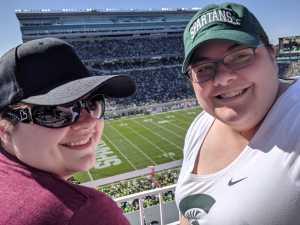 Katharine attended Michigan State Spartans vs. Arizona State - NCAA Football on Sep 14th 2019 via VetTix