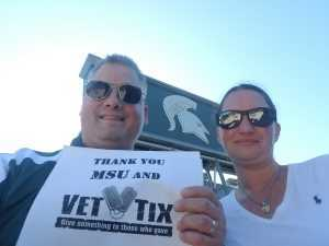 Christopher attended Michigan State Spartans vs. Arizona State - NCAA Football on Sep 14th 2019 via VetTix