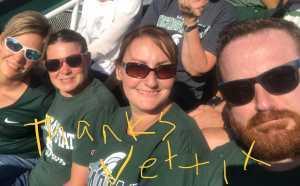 Alissa attended Michigan State Spartans vs. Arizona State - NCAA Football on Sep 14th 2019 via VetTix