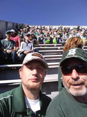 SEAN attended Michigan State Spartans vs. Arizona State - NCAA Football on Sep 14th 2019 via VetTix