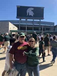 Jan attended Michigan State Spartans vs. Arizona State - NCAA Football on Sep 14th 2019 via VetTix