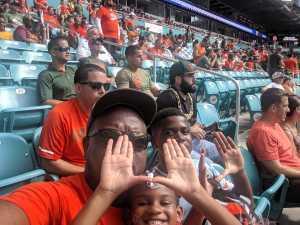 Brenton attended University of Miami Hurricanes vs. Bethune-cookman - NCAA Football on Sep 14th 2019 via VetTix