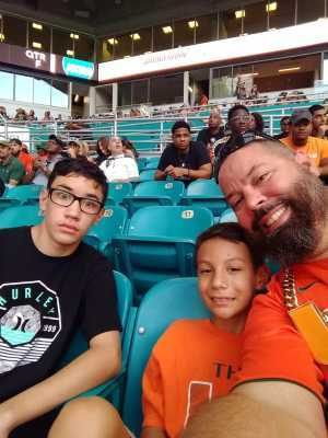 Christopher attended University of Miami Hurricanes vs. Bethune-cookman - NCAA Football on Sep 14th 2019 via VetTix