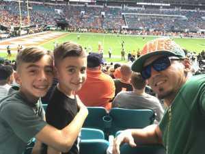 Salvador attended University of Miami Hurricanes vs. Bethune-cookman - NCAA Football on Sep 14th 2019 via VetTix