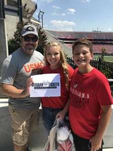 Jamie attended University of Georgia Bulldogs vs. Murray State Racers - NCAA Football on Sep 7th 2019 via VetTix