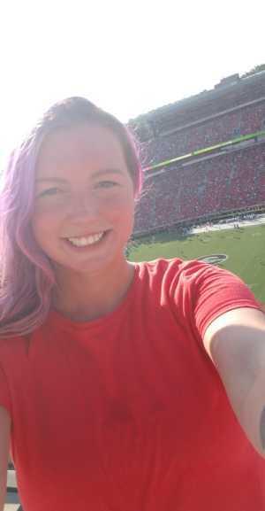 Alisha attended University of Georgia Bulldogs vs. Murray State Racers - NCAA Football on Sep 7th 2019 via VetTix