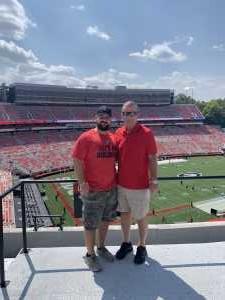 Landon attended University of Georgia Bulldogs vs. Murray State Racers - NCAA Football on Sep 7th 2019 via VetTix