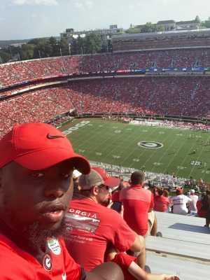 Keith attended University of Georgia Bulldogs vs. Murray State Racers - NCAA Football on Sep 7th 2019 via VetTix