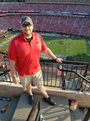James attended University of Georgia Bulldogs vs. Murray State Racers - NCAA Football on Sep 7th 2019 via VetTix