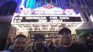 John attended The Australian Pink Floyd Show - All That You Love World Tour 2019 on Sep 10th 2019 via VetTix