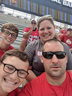 Jeffrey attended Ohio State Buckeyes Football vs. Cincinnati Bearcats - NCAA Football on Sep 7th 2019 via VetTix