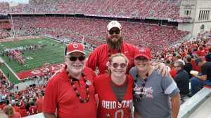Matthew attended Ohio State Buckeyes Football vs. Cincinnati Bearcats - NCAA Football on Sep 7th 2019 via VetTix