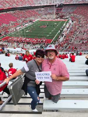 Danny attended Ohio State Buckeyes Football vs. Cincinnati Bearcats - NCAA Football on Sep 7th 2019 via VetTix