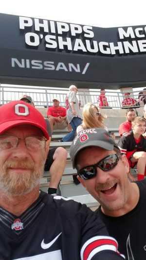 Christopher attended Ohio State Buckeyes Football vs. Cincinnati Bearcats - NCAA Football on Sep 7th 2019 via VetTix