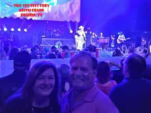 Eric attended Toby Keith W/ Kyle Parks & Jon Wolfe - Theatre at Grand Prairie - Reserved Seats on Sep 5th 2019 via VetTix